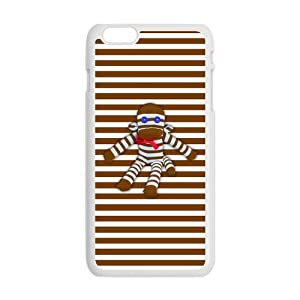 "Slim Stylish Protective Laser Print Cute Cartoon Character Sock Monkey Pictures Cover Case for iPhone 6 Plus Case 5.5""-1"