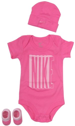 Nike Baby Clothing Set with Big Nike Bold Logo for baby boys and girls Pink, 0-6 Months