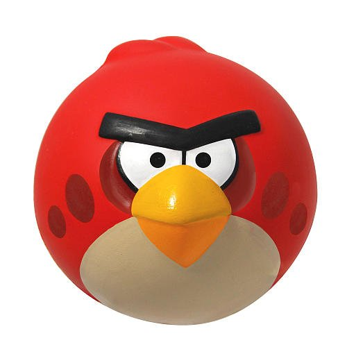 "Angry Birds 4"" Sculpted Foam Ball, Red Bird"