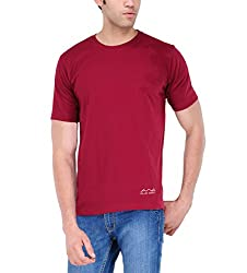 AWG Men's Jersey Round Neck Dryfit T-shirt - Maroon - AWGDFT-MA-M