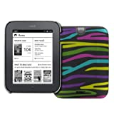 Black with Multi Zebra Stripes Stealth Design Hard Case Cover for Barnes and Noble Nook Simple Touch / Noble Nook...