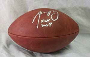 Authentic, Full Size, Super Bowl 45, The Duke, NFL Football, Signed by, Green Bay... by Wilson