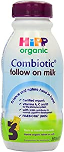 HiPP Organic 3 from 6 months onwards Follow on Milk 500 ml (Pack of 12)