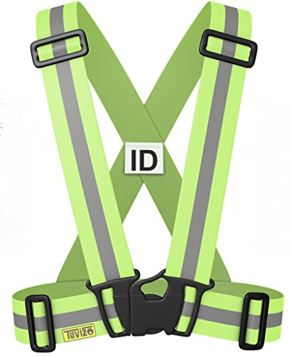 The Tuvizo Reflective Vest provides High Visibility day & night for Running, Cycling, Walking etc. This easily adjustable, lightweight, elastic Reflective Belt Vest/Reflective Running Vest/Cycling Vest/Safety Vest gives a versatile comfortable fit over sports gear or outdoor clothing. YELLOW S/M/L (Running Safety Light Vest compare prices)