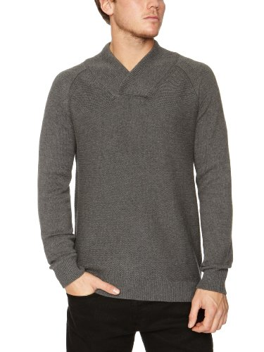 Selected Homme Clap V-Neck F Men's Jumper Mid Grey Melange X-Large