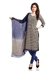 Pinkshink Womens Cotton Unstitched Dress Material (Psk44 _Beige)
