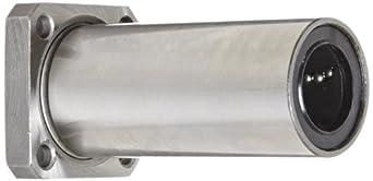 LBK20LUU Linear Motion 20 mm Flange Mount Ball Bushing, Square Flange, Long, Closed Type, Metric