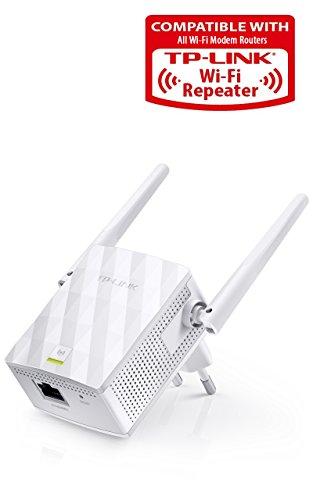 TP-LINK TL-WA855RE - Extensor de red WiFi (2.4 GHz, N300, WPS, 2T2R, 802.1 b/g/n, 1 10/100M LAN, botón extensor de red, modo AP y extensor de red, 2 antenas fijas)