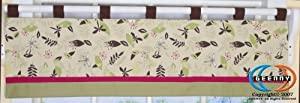 GEENNY Window Valance For Boutique Autumn Leaves 13 PCS Crib Bedding Set