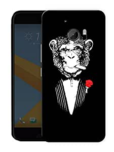 "Humor Gang No So Funny Monkey Printed Designer Mobile Back Cover For ""HTC 10"" (3D, Matte, Premium Quality Snap On Case)"
