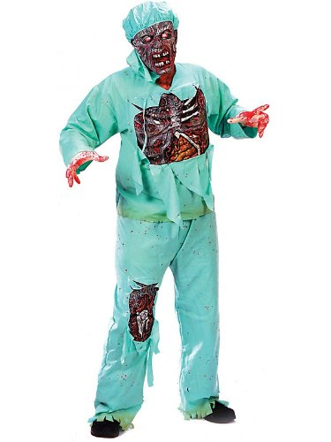 Zombie Doctor Costume - Plus Size - Chest Size 48-53