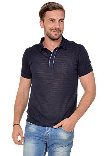 M.Conte Uomo maglietta da polo shirt manica corta Armando blu L