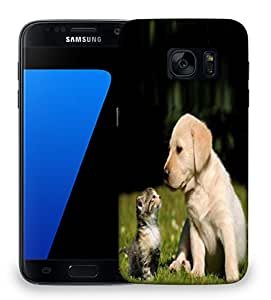 Snoogg Puppy And Kitty Designer Protective Phone Back Case Cover For Samsung Galaxy S7
