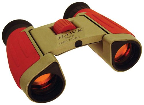 8X/22Mm Ruby Lens Red And Golden Binoculars