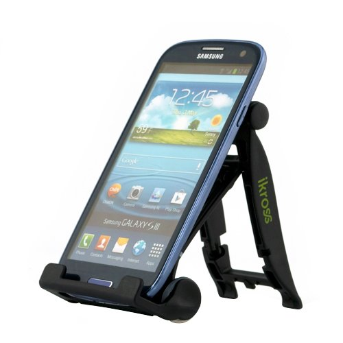 iKross Universal Portable Folding Mobile Phone Stand holder - Black for Samsung and Motorola Smart phones