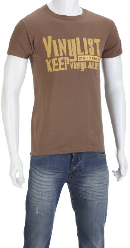 DMC Vinylist Music-And-Film Mens T-Shirt Light Brown XX-Large