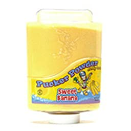 Yellow Sweet Banana Pucker Powder Candy 9 Ounce Bottle