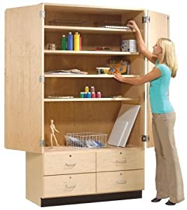 Amazon Com Tall Storage Cabinet With Drawers Free