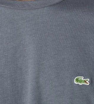 Lacoste Short Sleeve Pima Jersey Crewneck T-shirt : Seaweed Green (Size L/EUR 6)