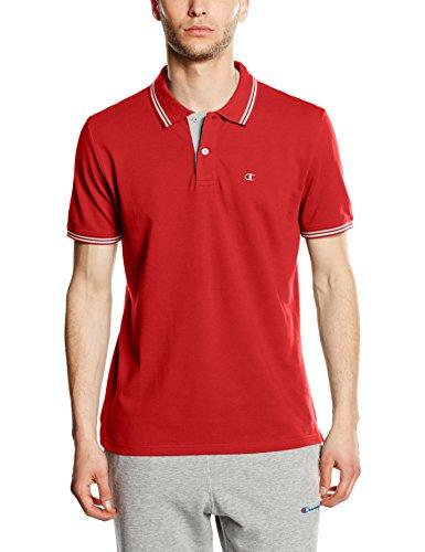 Champion polo da uomo, dark forest green, XL, 209599_ S16, Uomo, Polo, Rosso - chinese red, L