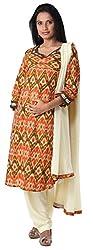 Morph Maternity Orange Kameez With Beige Salwar Dupatta (Small)