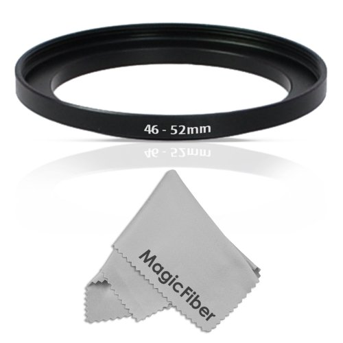 Goja 46-52Mm Step-Up Adapter Ring (46Mm Lens To 52Mm Accessory) + Premium Magicfiber Microfiber Cleaning Cloth
