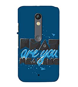 what are you thinking 3D Hard Polycarbonate Designer Back Case Cover for Motorola Moto X Force :: Motorola Moto X Force Dual SIM