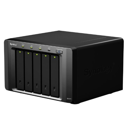 Synology DiskStation 5-Bay (Diskless) Scalable Network Attached Storage DS1511+ (Black)