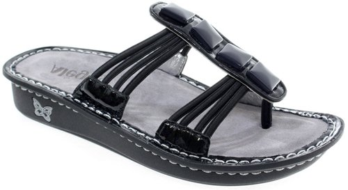 Alegria Pisa Women's Leather Sandals,Black,41 M EU (10.5 M US)