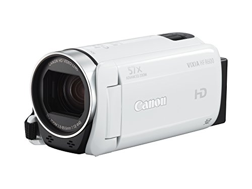 Canon - Vixia Hf R600 Hd Flash Memory Camcorder - White