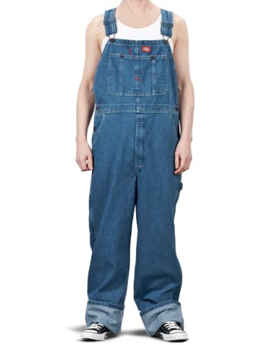 dickies men 39 s denim stone washed bib overalls stone washed indigo blue 36x34 apparel. Black Bedroom Furniture Sets. Home Design Ideas