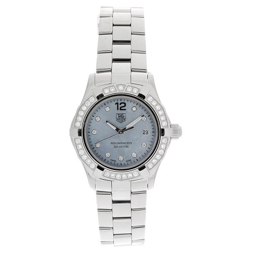 TAG Heuer Women's WAF141J.BA0813 Aquaracer Diamond Quartz Blue Mother-of-Pearl Dial Watch