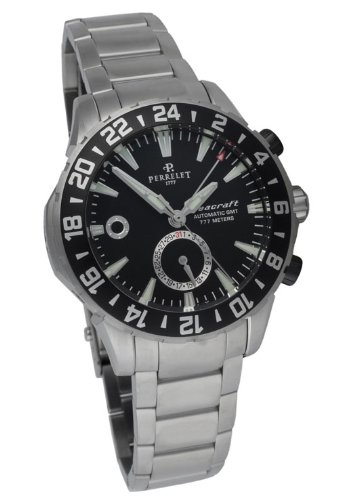 Perrelet Diver Seacraft GMT Automatic Men's Luxury Watch A1055/B