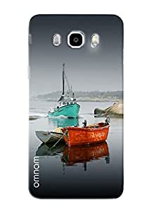 Omnam Boats In Water Printed Desinger Back Cover Case For Samsung Galaxy J7 (2016)