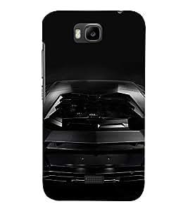 PrintVisa Sports Car Design 3D Hard Polycarbonate Designer Back Case Cover for Huawei Honor Bee