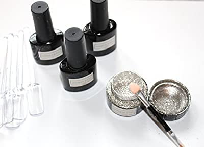 Chrome Pure Powder, Magic Powder, Mirror Powder silver DELUXE KIT for Nails