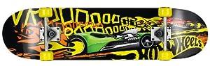 Hot Wheels 980291 Skateboard pour enfant Fireboard Noir/Jaune