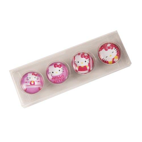Purchase Vandor 18056 Hello Kitty 4-Piece Glass Magnets, Pink saleoff