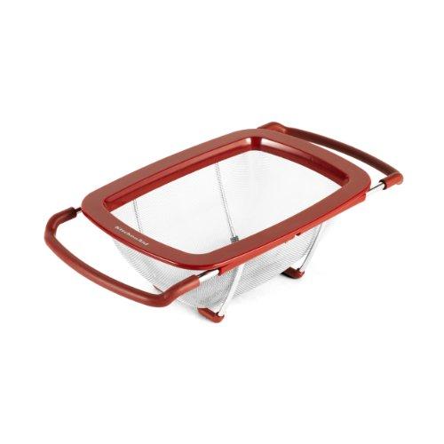 KitchenAid Expandable Colander Strainer, Red