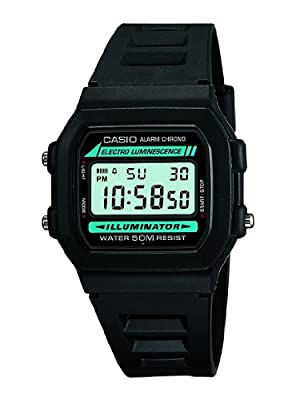 Casio - Black Digital Illuminator Watch - Mens from Casio