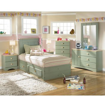 Apple Crisp Captain's Bedroom Set by Signature Design