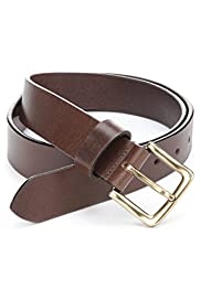 Leather Square Buckle Belt [T01-4537B-S]