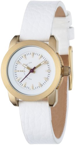 Diesel Ladies Gold Tone Stainless Steel Watch With Leather Strap