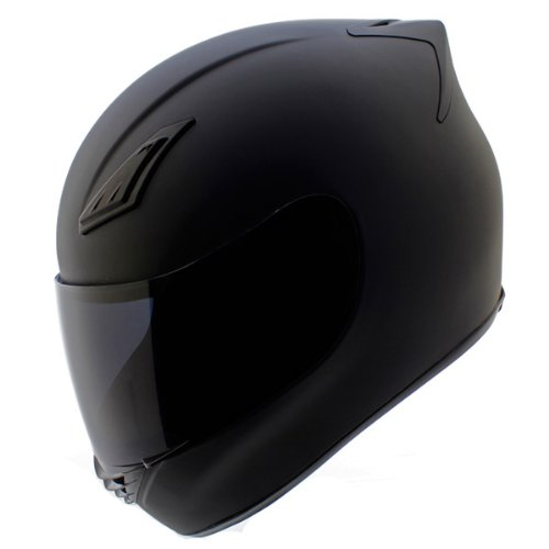 Duke Helmets DK-120 Full Face Motorcycle Helmet, Medium, Matte Black