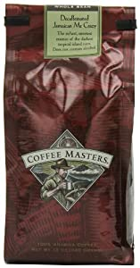 Coffee Masters Flavored Coffee, Jamaican Me Crazy Decaffeinated, Whole Bean, 12-Ounce Bags (Pack of 4)