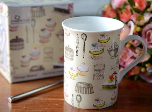 Vintage Baker Fine Bone China Mug In A Gift Box