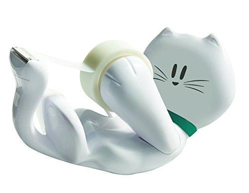 scotch-cat-810-dispensador-de-cinta-adhesiva-incluye-1-rollo-de-cinta-19-mm-x-89-m-color-blanco-dise