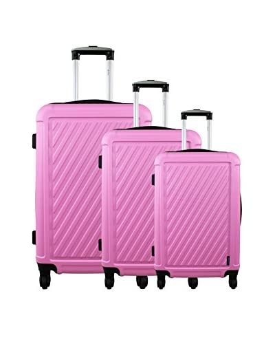 ZIFEL Set de 3 trolleys rígidos Lila 0 cm