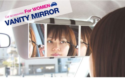 Three Way Mirror For Cars Portable Light White New Compact Handy Comfortable front-188092
