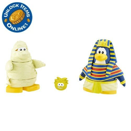 Buy Low Price Jakks Pacific Club Penguin: 2 Inch Mix 'N Match Figure Pack – Pharoah and Mummy – Series 7 (B003ZOV5YI)